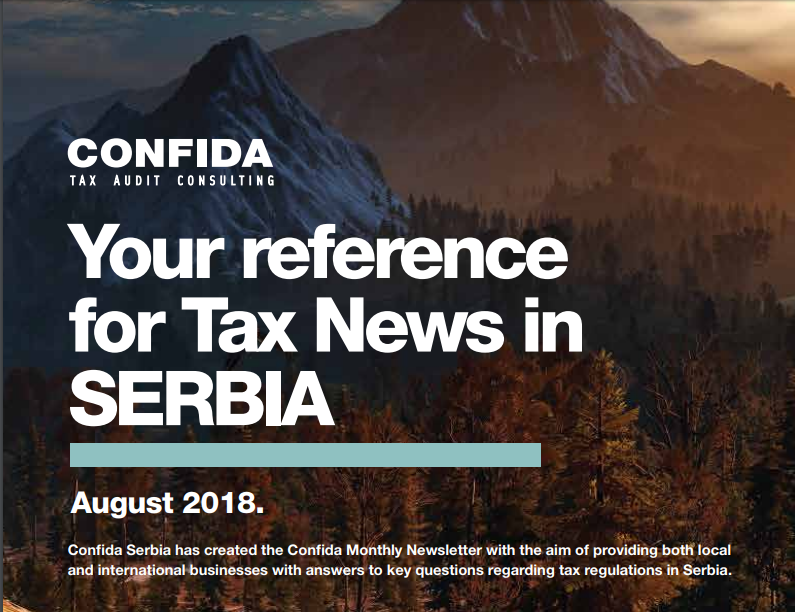 August 2018: Your reference for Tax News in Serbia