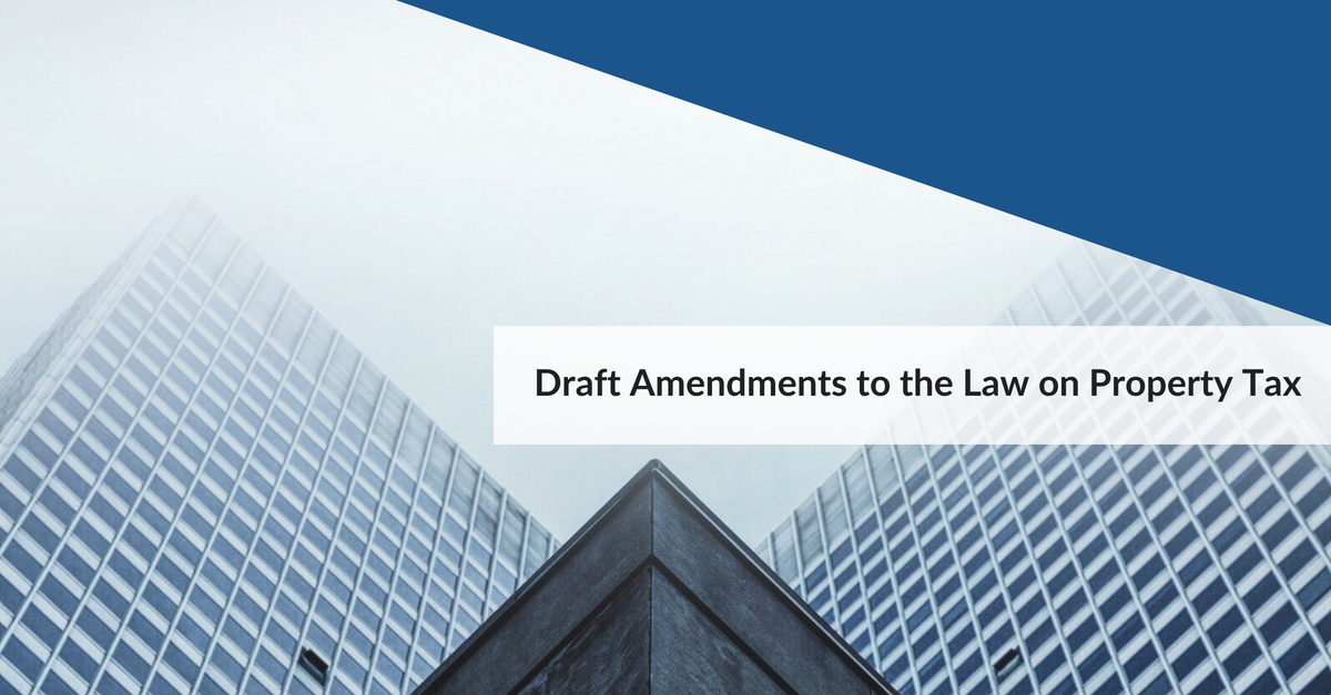 Draft Amendments to the Law on Property Tax