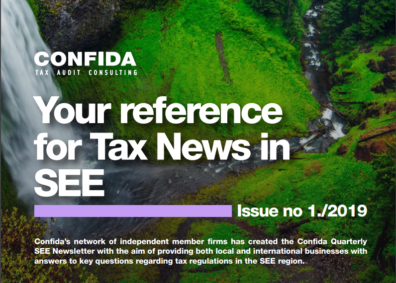 Your reference for Tax News in SEE: Issue no 1./2019