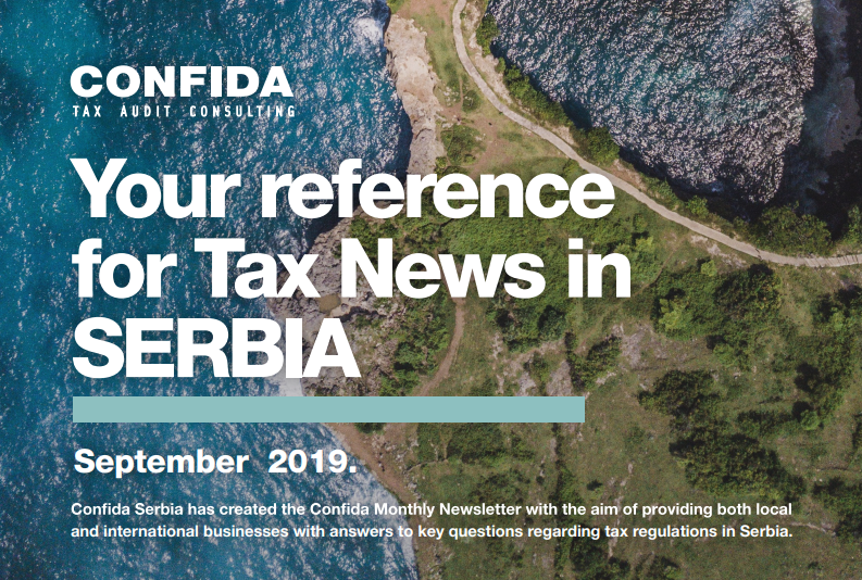SEPTEMBER 2019: Your reference for Tax News in Serbia
