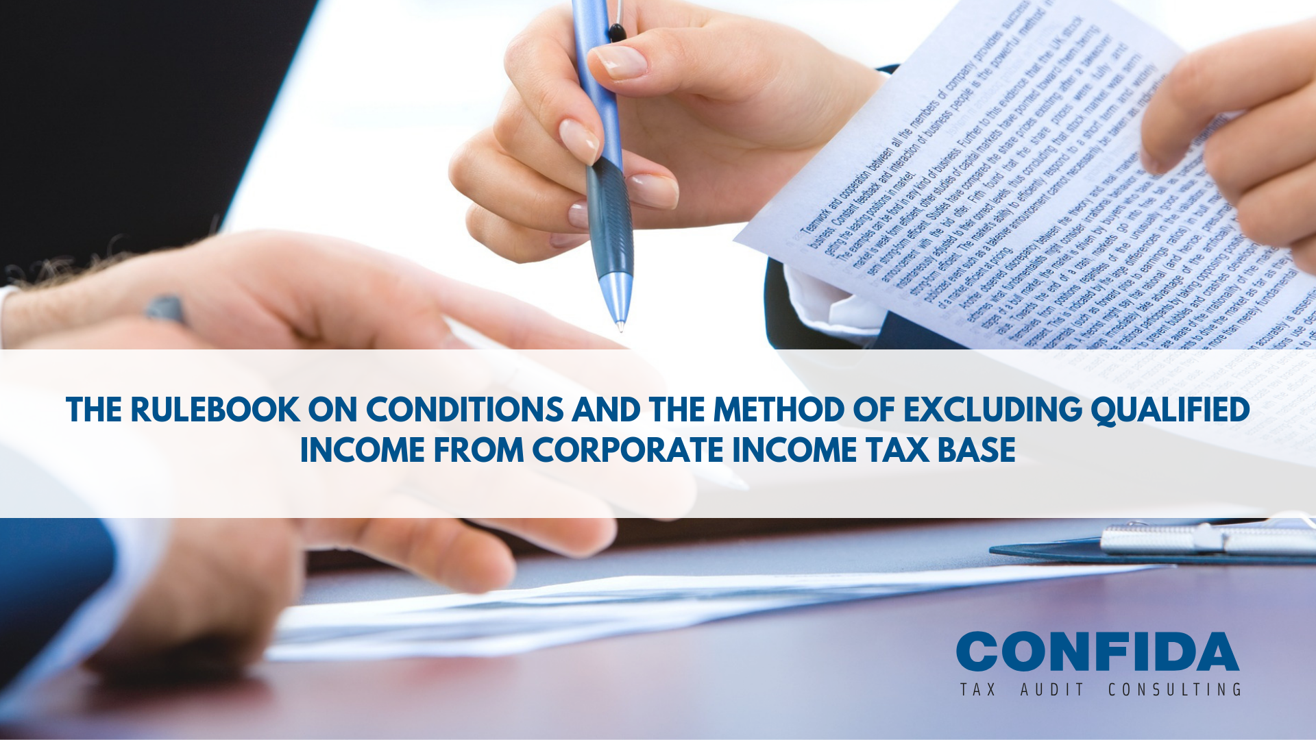 The Rulebook on conditions and the method of excluding qualified income from corporate income tax base