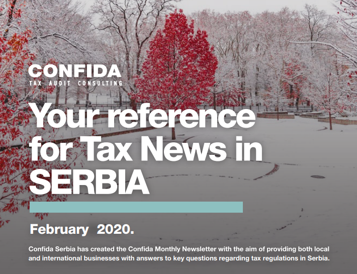 February 2020: Your reference for Tax News in Serbia