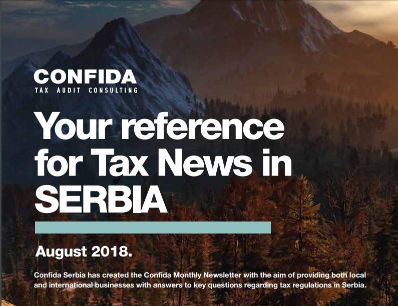 Avgust 2018: Vaša referenca za poreske vesti u Srbiji