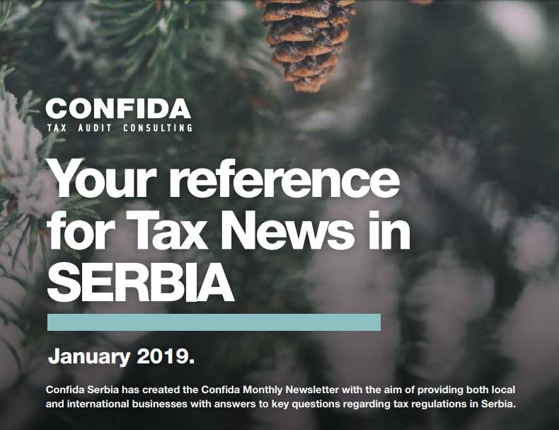 Januar 2019: Vaša referenca za poreske vesti u Srbiji