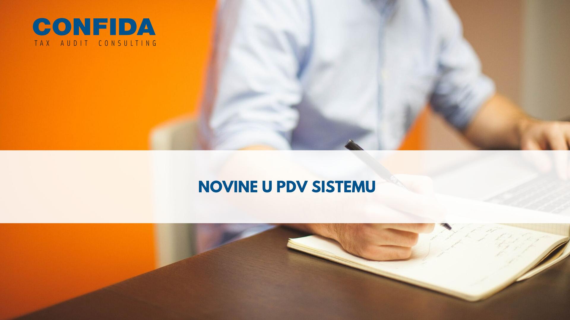 Novine u PDV sistemu