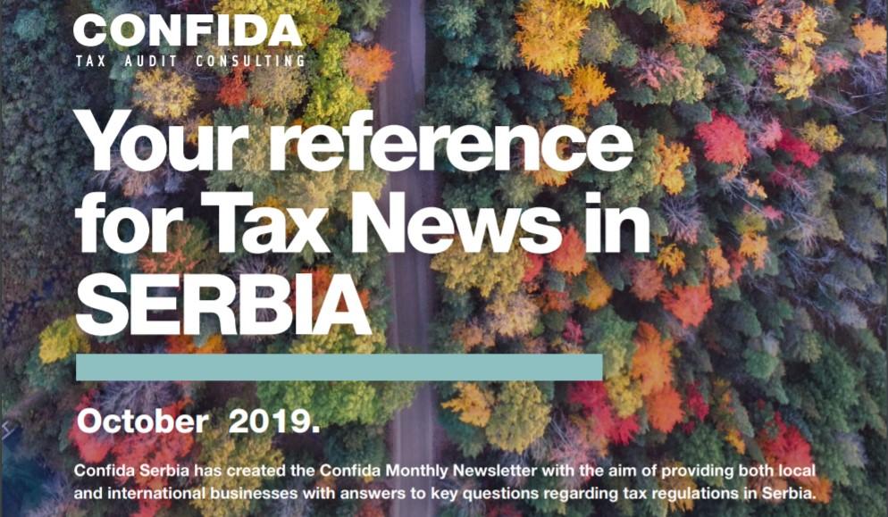 Oktobar 2019: Vaša referenca za poreske vesti u Srbiji