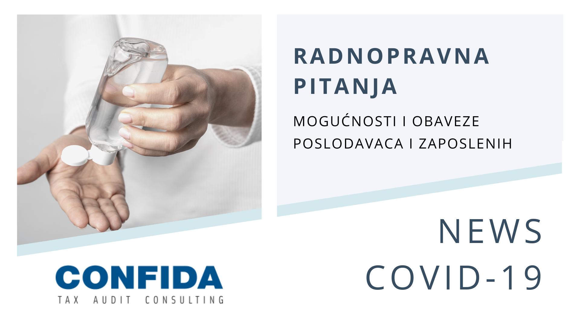 COVID-19: Radnopravna pitanja i obaveze poslodavaca