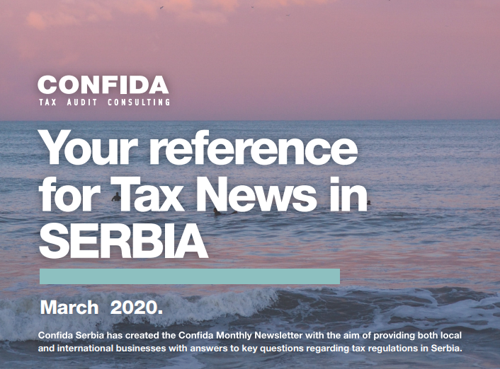 Mart 2020: Vaša referenca za poreske vesti u Srbiji
