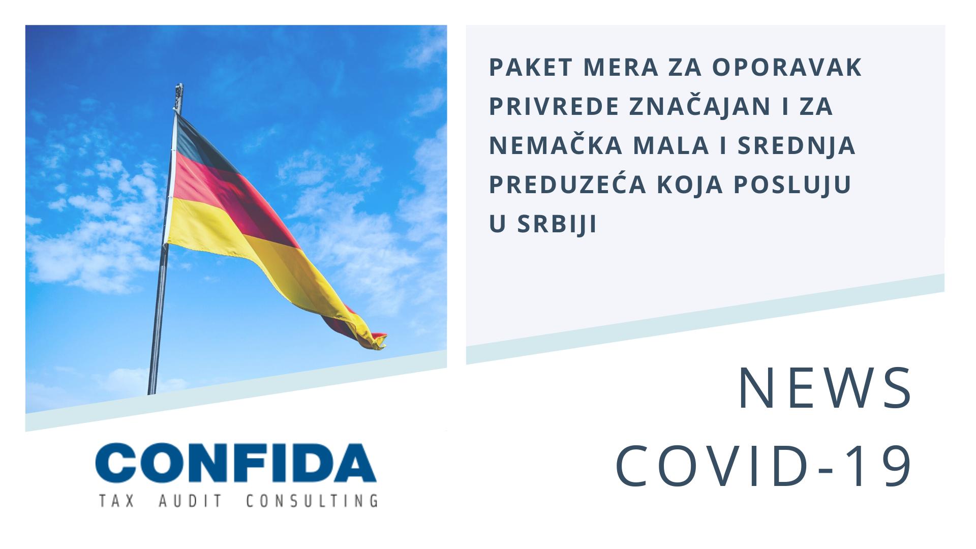 Paket mera za oporavak privrede značajan i za nemačka mala i srednja preduzeća koja posluju u Srbiji