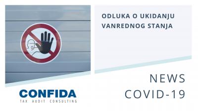 Odluka o ukidanju vandrednog stanja COVID-19