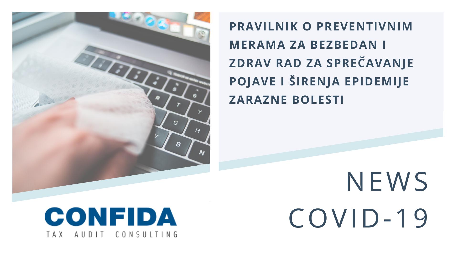 Pravilnik o preventivnim merama za bezbedan i zdrav rad za sprečavanje pojave i širenja epidemije zarazne bolesti