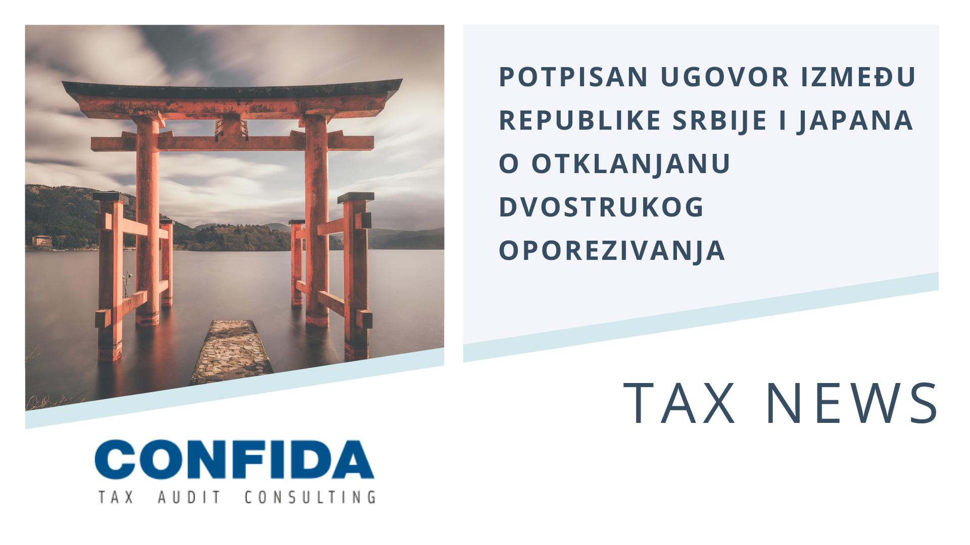 Potpisan ugovor između republike Srbije i Japana o otklanjanu dvostrukog oporezivanja
