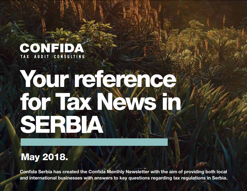 May 2018: Your reference for Tax News in Serbia