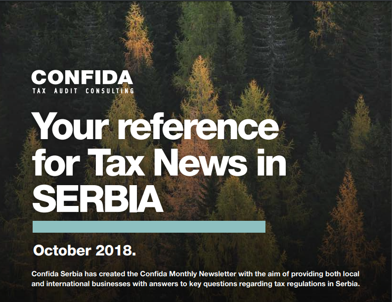 OCTOBER 2018: Your reference for Tax News in Serbia