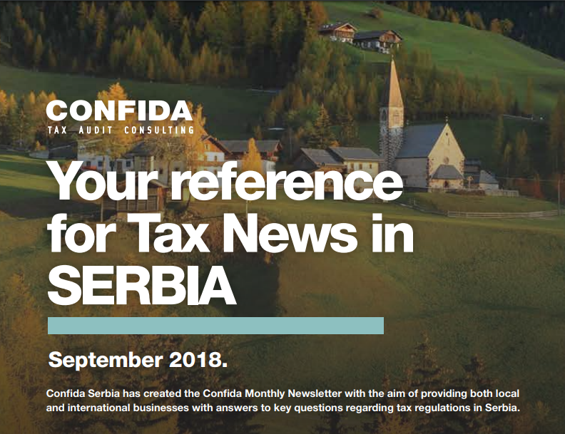 Tax news Serbia September 2018