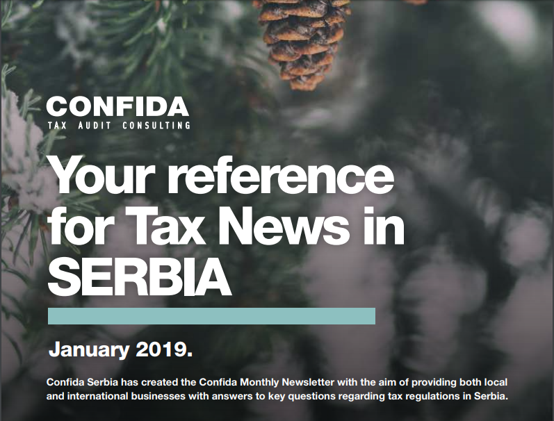 JANUARY 2019: Your reference for Tax News in Serbia