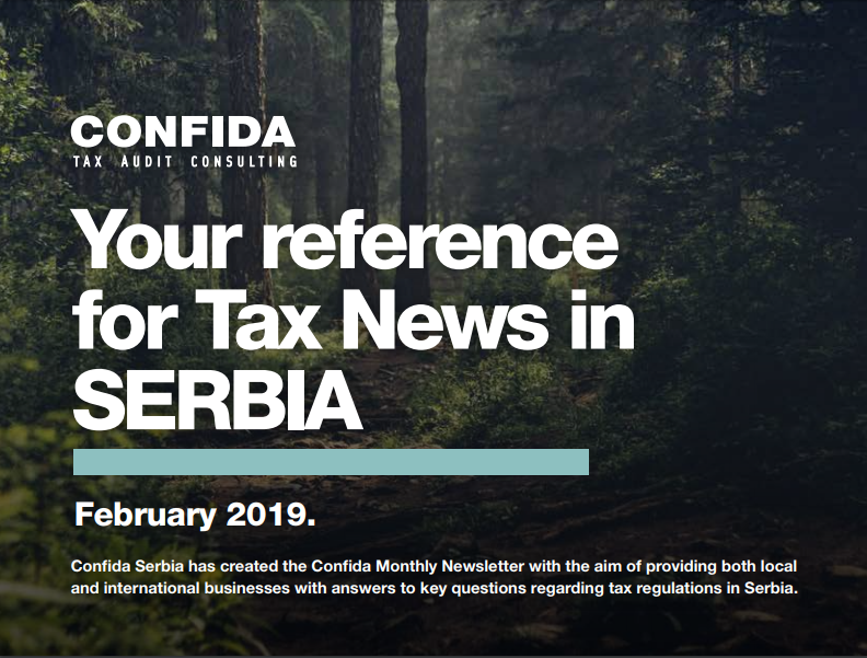 FEBRUARY 2019: Your reference for Tax News in Serbia