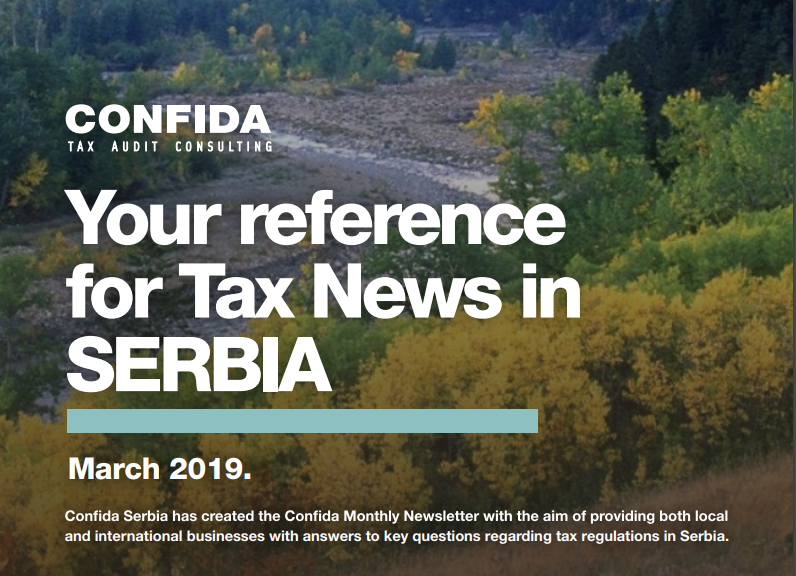 MARCH 2019: Your reference for Tax News in Serbia