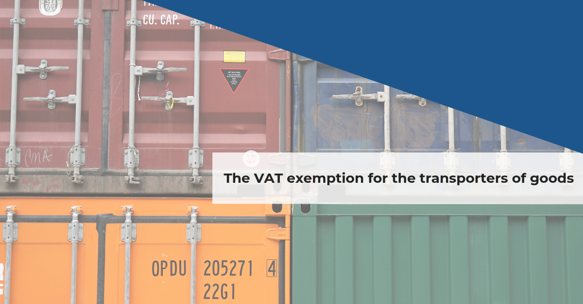 Confida news | The VAT exemption for the transporters of goods