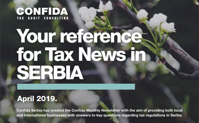 APRIL 2019: Your reference for Tax News in Serbia