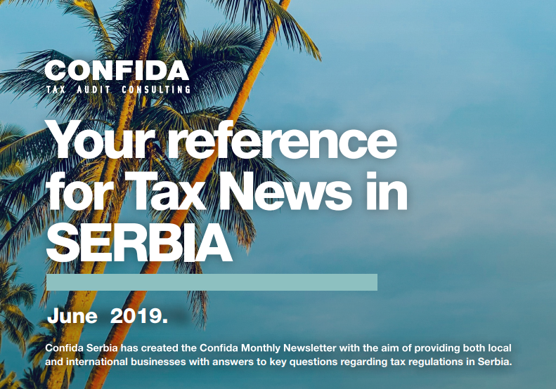 JUNE 2019: Your reference for Tax News in Serbia