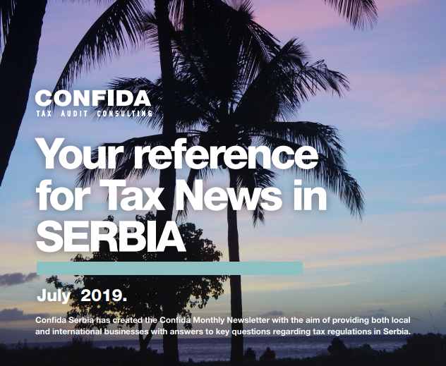 JULY 2019: Your reference for Tax News in Serbia
