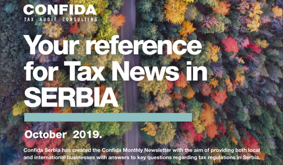 October 2019: Your reference for Tax News in Serbia