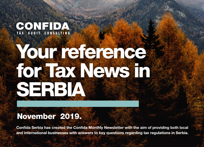 November 2019: Your reference for Tax News in Serbia