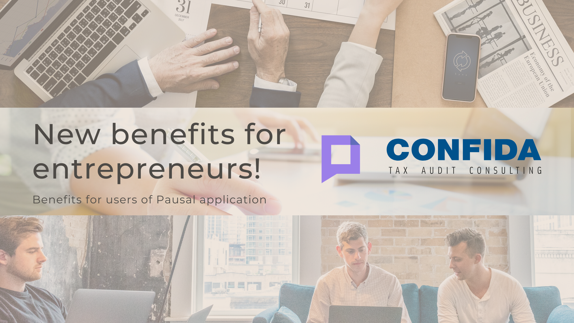 New benefits for entrepreneurs | for users of Pausal application