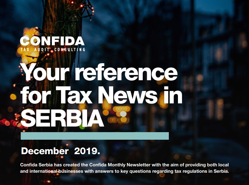 December 2019: Your reference for Tax News in Serbia