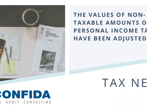 The Values of Non-Taxable amounts of Personal Income Tax have been adjusted