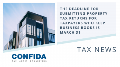 The Deadline for Submitting Property Tax Returns for Taxpayers who keep Business Books is March 31