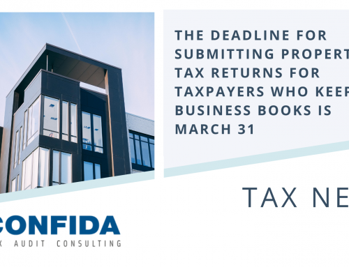 The deadline for submitting a property tax return for taxpayers who keep business books is March 31